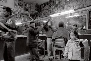 A barber shop in Thimphu.