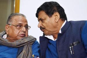 File photo of Samajwadi Party chief Mulayam Singh Yadav Shivpal Singh Yadav.