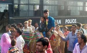 Upper caste people  often oppose Dalits riding mares during marriage processions  and celebration.