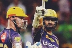 Shah Rukh Khan celebrated Kolkata Knight Riders' win against Royal Challengers Bangalore with a tweet that links KKR heroes Sunil Narine and Chris Lynn with characters from his Bollywood hit Kabhi Haan Kabhi Naa