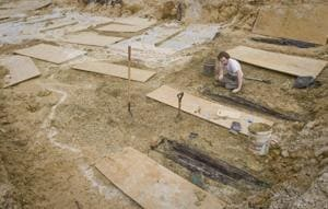In 2013, 66 coffins were found during the construction of a road in the campus. The next year, more renovation activities unearthed a thousand more of the spooky finds.