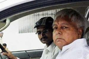 A file photo of RJD chief Lalu Prasad Yadav leaving for Ranchi to appear before a CBI court in connection with fodder scam in Patna.