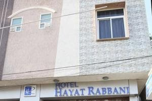 Hotel Hayat Rabbani in Jaipur that was sealed after a siege by gaurakshaks over rumours of beef being served.