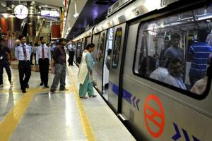 An estimated 2.8 million passengers travel daily on the Delhi Metro.