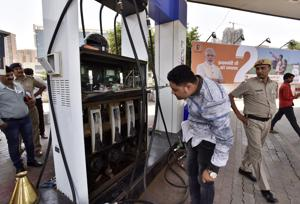 inspection at petrol pumps