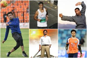 Clockwise from left: Ranbir Kapoor, Milind Soman, Akshay Kumar, Riteish Deshmukh and Shah Rukh Khan indulge in sports and sportsmanship.