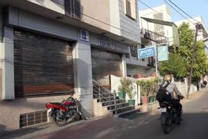 Hotel Hayat Rabbani was sealed by authorities after members of social organisations protested against the alleged sale of beef.