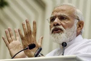 Prime Minister Narendra Modi speaks at the launch of the Supreme Court