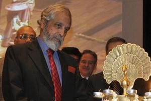 Justice Madan B Lokur during lighting of the lamp on the occasion of Global Pound Conference at Judicial Academy in Sector 43, Chandigarh, on Friday.