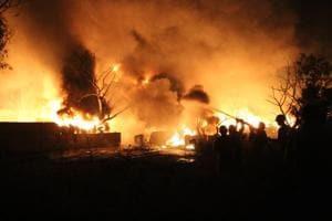 Fire at paint unit
