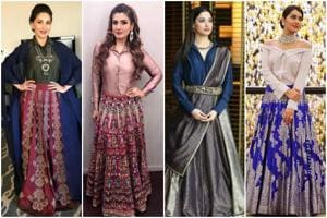 Take cues from Bollywood's style brigade on how to pair a simple button-down shirt with a lehenga skirt.