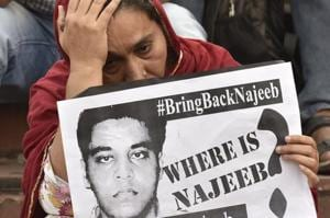 NajeebAhmad, 27, a first year MSc student, had gone missing from the JNU hostel on the night of October 14-15 last year after an alleged row with members of Akhil Bharatiya Vidyarthi Parishad (ABVP).