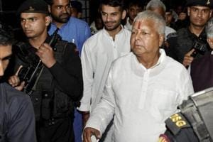In this file photo, Lalu Prasad can be seen coming out of Indira Gandhi Institute of Medical Sciences in Patna after receiving treatment for minor injuries. The top court's Monday ruling comes as an embarrassment to the politician and will bolster the BJP in Bihar, where Lalu Prasad's RJDis a member of the ruling alliance.