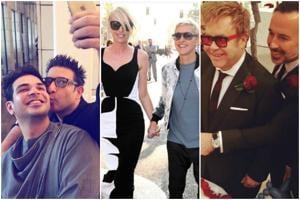 Be it singer,Sir Elton John, designer Suneet Varma or television host Ellen DeGeneres, many celebs have taken vows of matrimony with their partners.