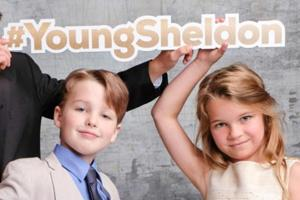 The first look of the spin-off,Young Sheldon, shows a young Sheldon Cooper and his siblings.