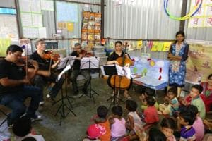 They've already performed Western Classical staples at a non-profit crèche in Mumbai Central, a hospital's cancer ward and a home for senior citizens.