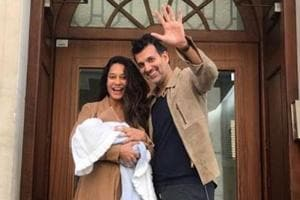 Lisa Haydon gave birth to son, Zack Lalvani, on May 17.