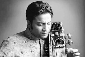 Sarangi player Sabir Khan, son of late Ustad Sultan Khan.