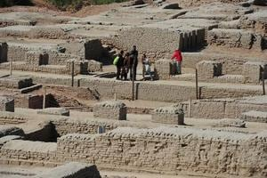 The ruins of Mohenjo Daro battle weather, human neglect for survival