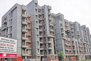 Delhi doesn't have too much vacant land to develop new housing units. At least 60% of the city's area is already built-up.