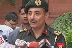 Major General Ashok Narula, addressed media persons on Tuesday in...