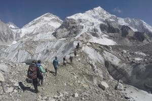Nepali climbers say outcrop near top of Mount Everest is intact