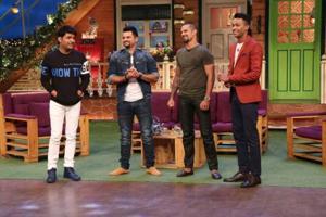 Suresh Raina, Shikhar Dhawan, Hardik Pandya visit Kapil Sharma's show...