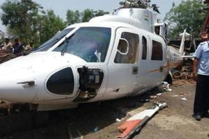 Maharashtra Chief Minister Devendra Fadnavis's chopper crash landed in...