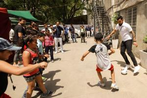 Virat Kohli encourages kids to play more sport