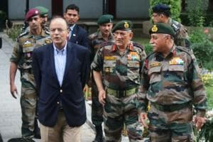 Army chief briefs defence minister Jaitley on Kashmir situation