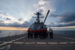 US Navy ship sails near South China Sea reef claimed by Beijing: US...