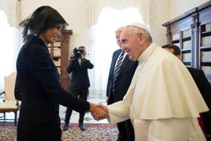 Melania Trump wears veil to meet Pope but eschewed headscarf in Saudi...