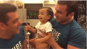 Fighter 'Ahil' knocks out Salman Khan in an adorable video, posted on...