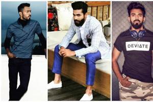 Hardik Pandya, Ranvindra Jadeja and Rahul KL's  fashion choices belie  their  occupation.