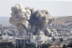 US-led coalition airstrikes in eastern Syrian town kill 35 civilians