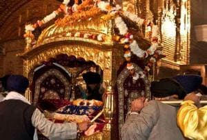 Sikhs donate palanquin for Guru Granth Sahib to Lahore Museum