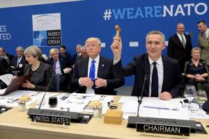 "Trump directly scolds NATO allies, says they owe ""massive"" sums"