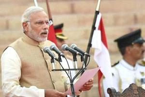 Prime Minister Narendra Modi took his oath of office on May 26, 2014.