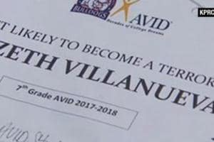 The students said three teachers were laughing as the certificates were being handed out.