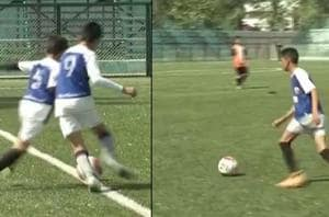 A special football coaching camp for deaf and mute players was...