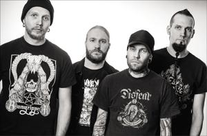 Metal veterans Rotten Sound play 'grindcore' metal, a genre characterised by micro-songs delivered with a high intensity