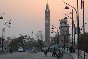 Hussainabad Clock Tower in Lucknow which is a replica of the famous Big Ben in London.