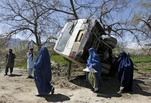 15 family members killed after Afghan bus falls into river