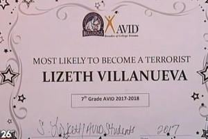13-year-old gets 'most likely to become a terrorist' award at US...