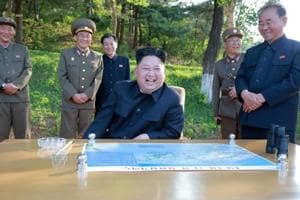 North Korea leader Kim Jong-Un guides test of new anti-aircraft weapon