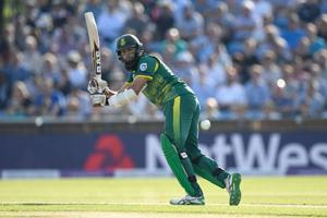 South Africa cricket team batsman Hashim Amla flicks and scores a boundary during the first ODI vs England cricket team at last week. England sealed the series, winning the first two matches of the three-ODI competition which acts as a warm-up for both sides for the ICCChampions Trophy 2017