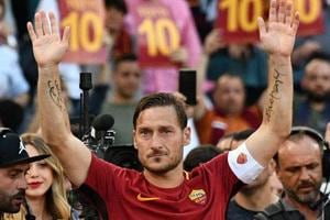 Francesco Totti's final match ends in celebration as Roma reach...