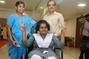 Wheelchair-bound Lucknow girl Aparna scales another high, scores 95%...
