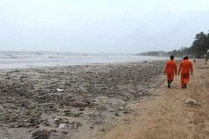 The incident took place a kilometer from the main beach around 3.30pm.