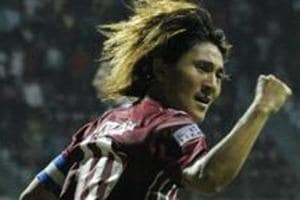 Katsumi Yusa scored the equaliser for Mohun Bagan in their AFCCup match against Dhaka Abahani.
